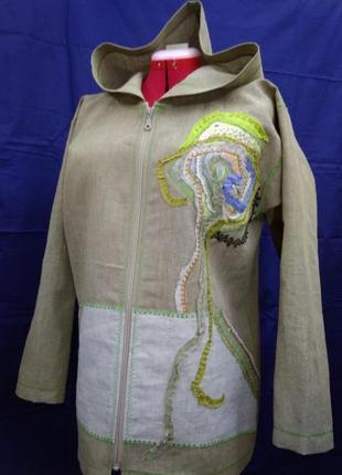 Куртка-ветровка из конопляной ткани