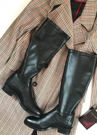 Фирменные кожаные сапоги чулки braska 39 р