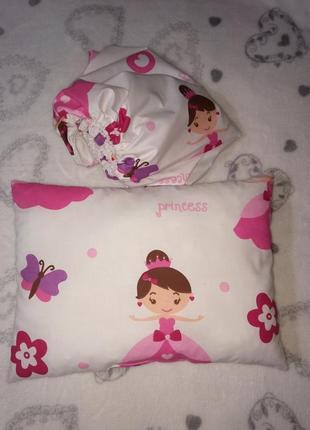 Набор подушка и простынь на резинке