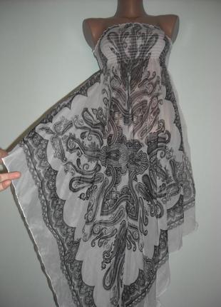 Платье-парео large шифоновое с платочным принтом