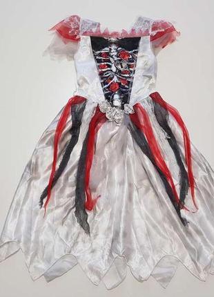 Платье halloween, карнавальное, детское, george, 9-10 лет. новое!