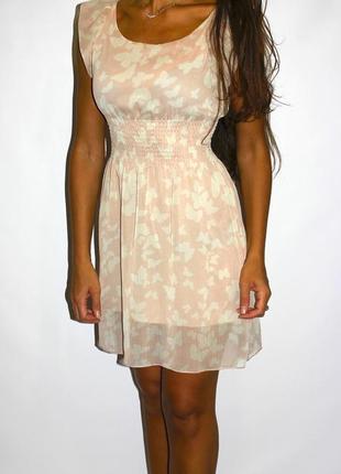 Шифоновое платье в бабочках -- срочная уценка всех платьев --