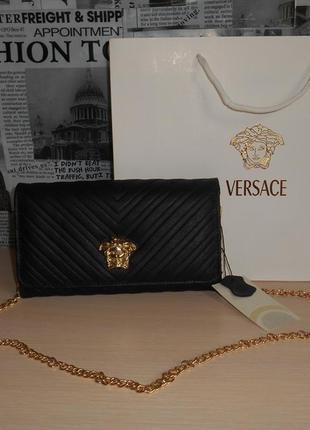 Сумка женская, сумочка, клатч в стиле versace, кожа, италия