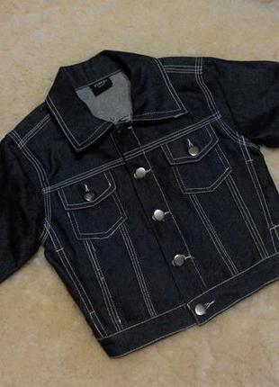 Джинсовая куртка yimei sport на мальчика 4-5 лет