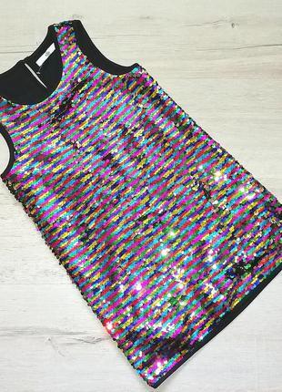 Красиво нарядное платье в пайетках для девочки
