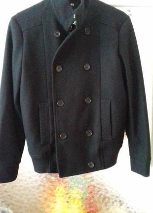 Мужская куртка пальто м шерсть деми