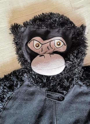 Клевый чёрный кигуруми комбинезон пижама флисовый