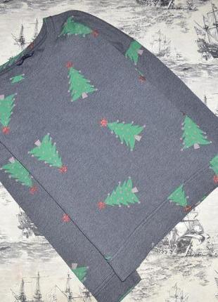 Свитшот с новогодними ёлочками размер uk 12 eur 40
