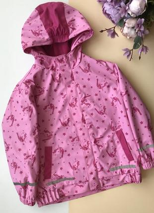 Непромокаемая ветровка куртка единорог единорожка 116/122