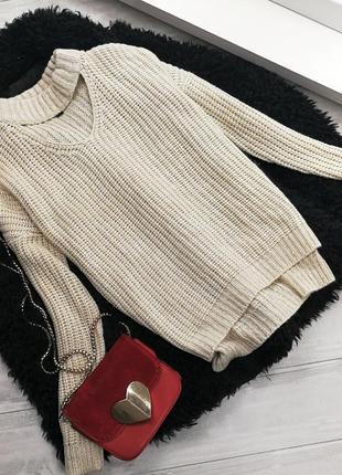 Бежевый свитер с чокером в205446 atmosphere размер m