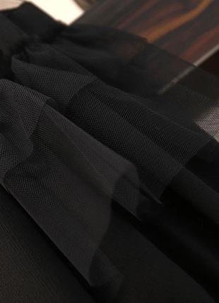 Чёрное оригинальное платье -блузка3 фото