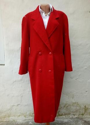 Красивое теплое шерстяное пальто oversize miss smith,большой размер,батл,классическое.