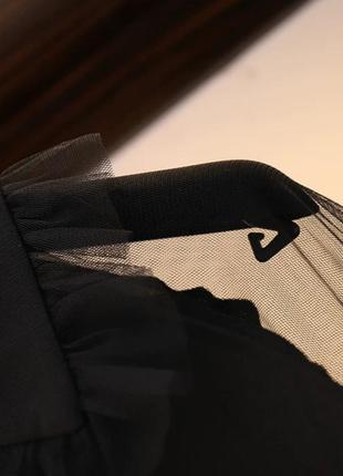 Чёрное оригинальное платье -блузка6 фото