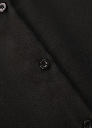 Чёрное оригинальное платье -блузка7 фото