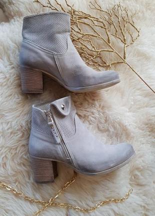 Витнажные кожаные ботинки италия