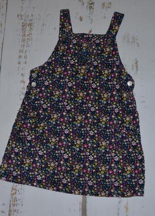 Цветочный вельветовый сарафан tu на 4-5 лет