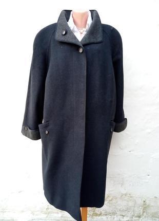 Стильное черное теплое шерстяное,кашемир пальто marcona,большой размер,батл,oversize.