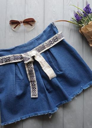 Джинсовые шорты юбка р 38