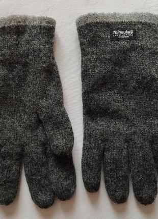 Тёплые перчатки thinsulate. размер l