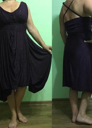 Платье трансформер amami цвета баклажан ручная работа