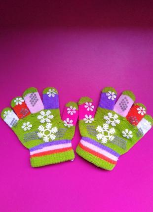 Перчатки для малышки на 1-2 годика