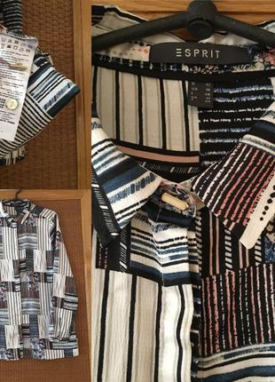 Стильна принтова блуза з золотистими ґудзиками xl/xxl