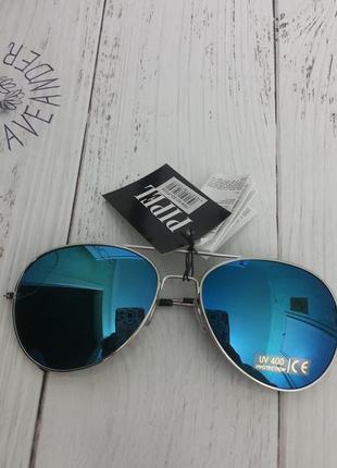 Стильные трендовые очки солнцезащитные авиатор pipel защита от ультрафиолета uv 400