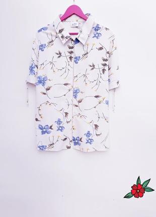 Натуральная рубашка летняя красивая рубашка на молнии большой размер