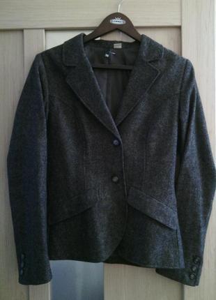 Шерстяной пиджак жакет