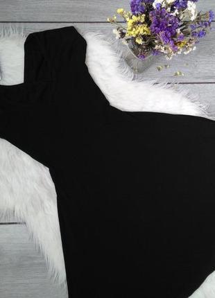 Brandy melville красивое базовое платье чёрное с шикарной спинкой