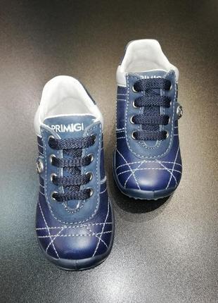Ботиночки для малыша из натуральной кожи primigi темно-синие, р. 19 (12,4 см.)