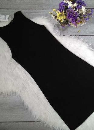 Brandy melville платье длинное чёрное базовое по фигуре в рубчик