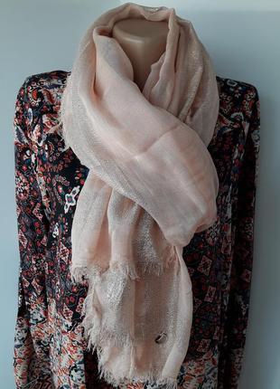 Воздушный шарф палантин в цвете пыльной розы