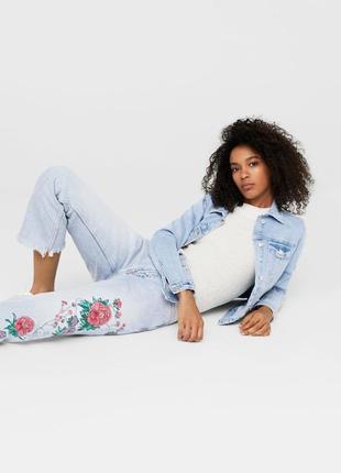 Шикарные джинсы с вышивкой от mango, 36р, испания, оригинал