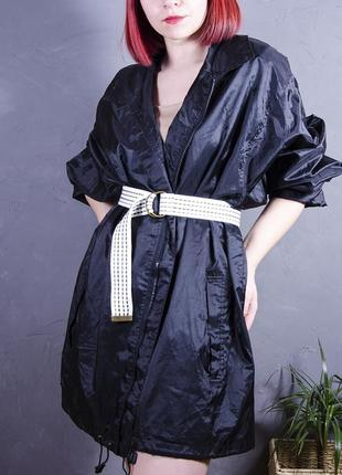 Объемный черный плащ, куртка-ветровка, дождевик oversize, the mountain