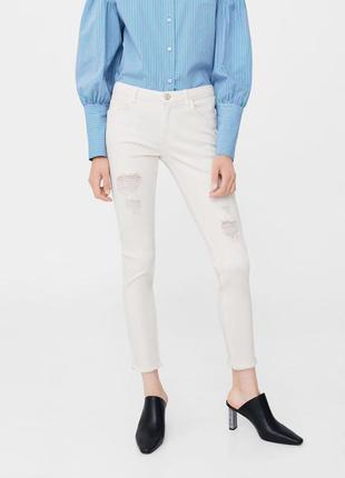 Шикарные джинсы от mango, низ обрезан, 36, 38р, оригинал