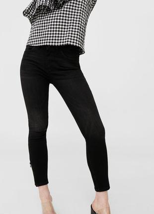 Шикарные джинсы с молниями от mango, 36р, оригинал