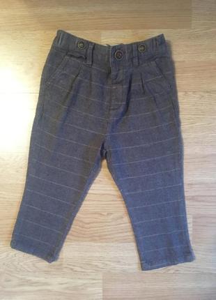 Фирменные штаны, брюки для мальчика next, размер 12-18м , 86