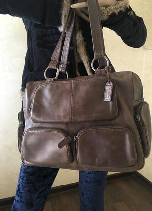 Кожная сумка бренд ecco большая кожаная сумка  дорожная кожаная сумка