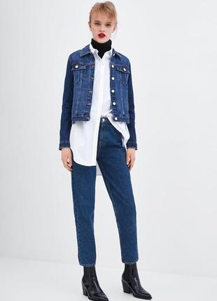 Шикарные джинсы mom fit zara с высокой посадкой, 36, 38, 40, 42р, испания