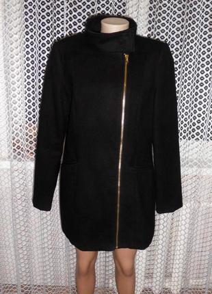 Cтильное пальто -косуха  george,черное...осень весна на замочке и кнопках.