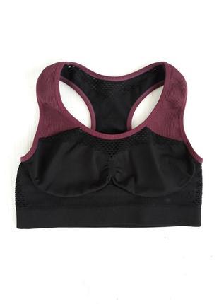 Топ для спорта фитнеса йоги плотный с сеточкой на спине груди и под подмышками