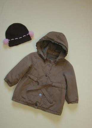 Стильная деми курточка парка куртка noa noa 9-18 мес + шапочка в подарок!!!