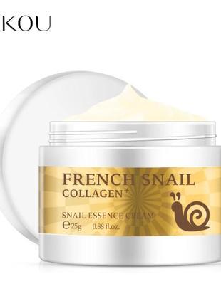 Крем лифтинг улитка коллаген гиалурон laikou french snail collagen