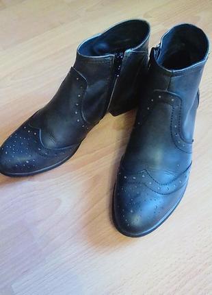 Брендовые,кожаные ботинки,полуботинки,ботильены,38р.от бренда roberto santi.