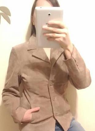 Из натурального замша замшевый пиджак жакет блейзер куртка