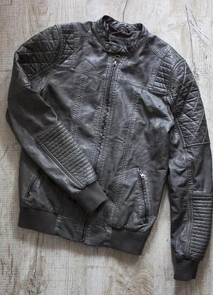 Кожаная мужская куртка river island, оригинал