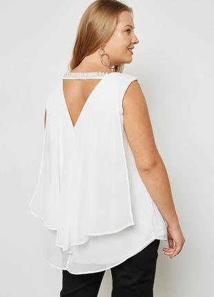 Блуза с бусинами на спинке большой размер evans