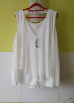 Блуза с бусинами на спинке большой размер evans3