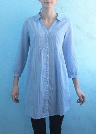 Рубашка в полоску удлиненная